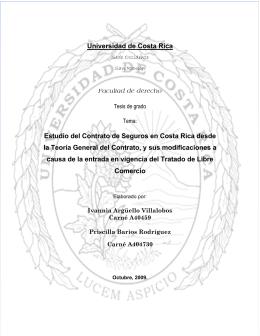 Universidad de Costa Rica Estudio del Contrato de Seguros en