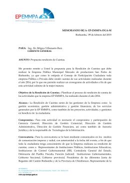 Diseño de la Propuesta del Proceso de Rendición de - EP