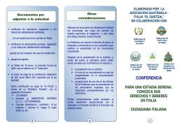 Ciudadanía - Consulado General de Honduras en Roma