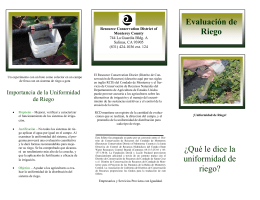 FINAL Spanish Irr Eval Brochure 091901
