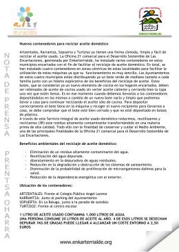 Nota de prensa - Ayuntamiento de Karrantza