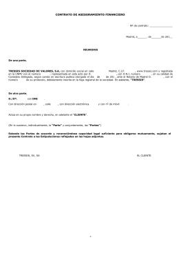 CONTRATO DE ASESORAMIENTO FINANCIERO