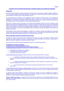 contrato de gestión discrecional e individualizada de carteras de