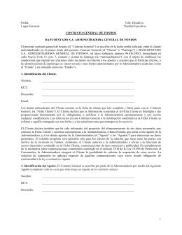 Contrato General de Fondos