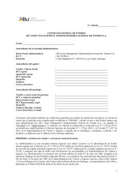 Contrato General de Fondos ContratoGeneraldeFondos