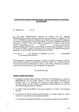 CONTRATO DE GESTION DISCRECIONAL E