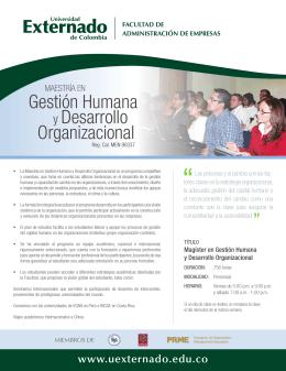 Gestión Humana y Desarrollo Organizacional