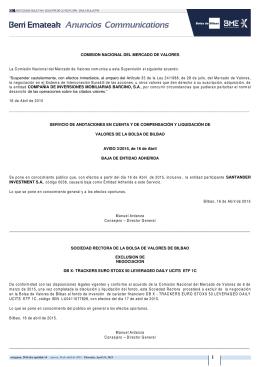 COMISION NACIONAL DEL MERCADO DE