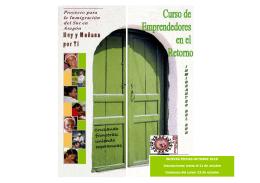 folleto emprendedores oct 2012 - Fundación San Ezequiel Moreno