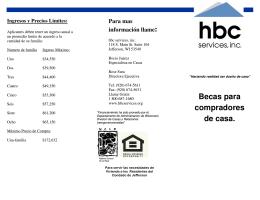 Becas para compradores de casa.