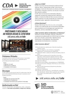 folleto CDA