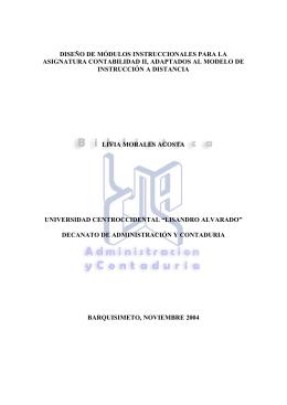 diseño de módulos instruccionales para la asignatura contabilidad ii