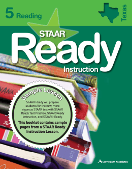 STAAR Ready Instruction SB