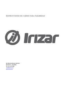 Cambio del parabrisas - IRIZAR