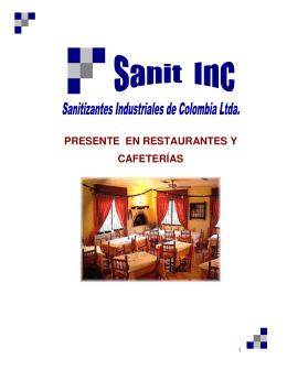 PRESENTE EN RESTAURANTES Y CAFETERÍAS