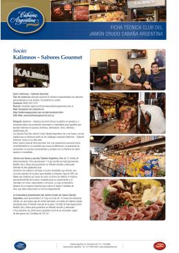 Socio: Kalimnos – Sabores Gourmet