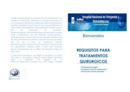 Bienvenidos - Hospital de Ortopedia