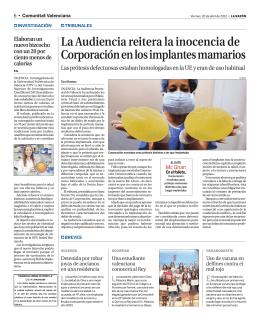 La Razón, 20 de abril de 2012