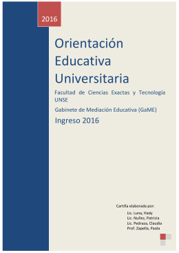 Orientación Educativa Universitaria