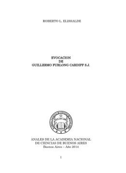 Evocación de Guillermo Furlong Cardiff S. J.