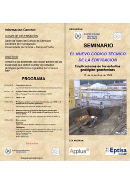 folleto email - Ilustre Colegio Oficial de GEOLOGOS