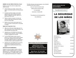 LA SEGURIDAD DE LOS NIÑOS