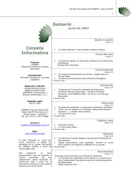 junio - Ministerio de Agricultura, Alimentación y Medio Ambiente
