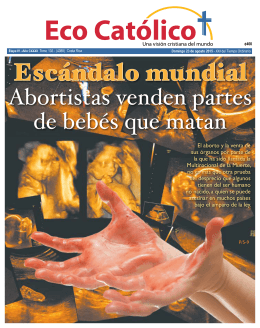 Abortistas venden partes de bebés que matan