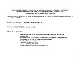 informe del ecuador conforme al artículo 7 de la convencion