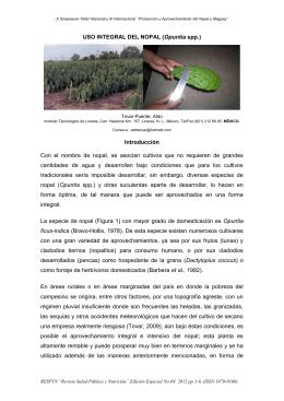 USO INTEGRAL DEL NOPAL (Opuntia spp - RESPYN