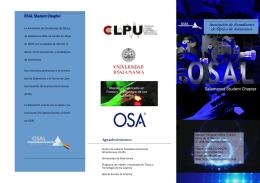 Folleto informativo OSAL - Grupo de Óptica