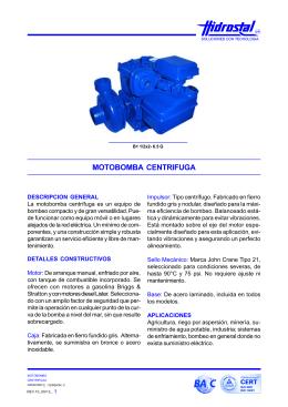 FOLLETO-MOTOBOMBA CENTRIFUGA