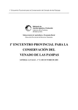 1º encuentro provincial para la conservación del venado de las