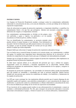 Protectores de las vías respiratorias