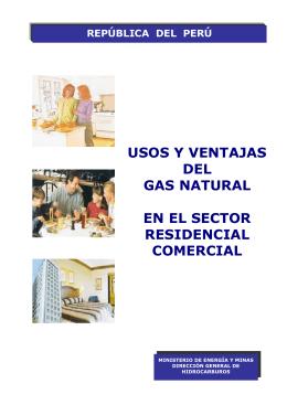 Usos y ventajas del gas natural en el sector