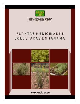 IDIAP 2009 Plantas medicinales colectadas en Panamá