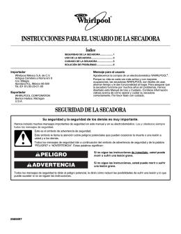 instrucciones para el usuario de la secadora