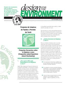 Design for the Environment - Garment and Textile Care
