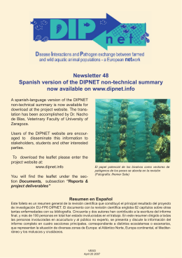 Newsletter 48 Spanish version of the DIPNET
