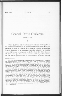 General Pedro Guillermo - Clío
