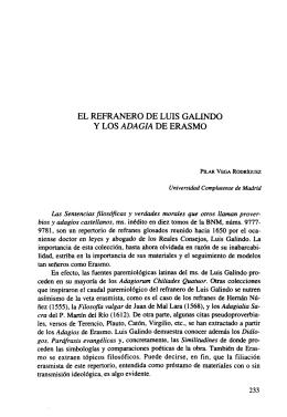 El Refranero de Luis Galindo y los Adagia de Erasmo - e