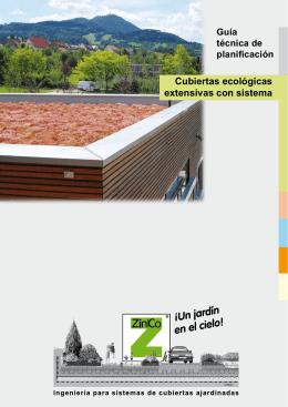 """Guía técnica """"Cubiertas ecológicas extensivas con sistema"""""""