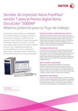 Folleto - Servidor de impresión Xerox FreeFlow® versión 7 para