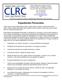 Expedientes Personales - Disability Rights Legal Center