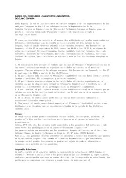 BASES DEL CONCURSO «PASAPORTE LINGÜÍSTICO» DE EUNIC