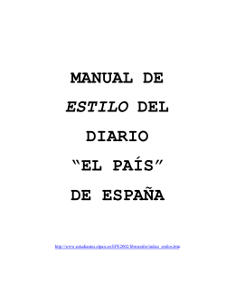 MANUAL DE ESTILO DEL DIARIO EL PAIS - Blogs EL PAIS