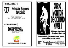 FOLLETO CURSO DE CURSO CICLISMO 2005-2006
