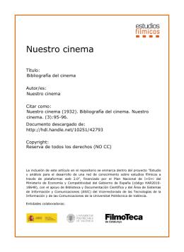 Nuestro cinema