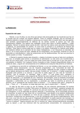 Casos Prácticos ASPECTOS GENERALES La Redención