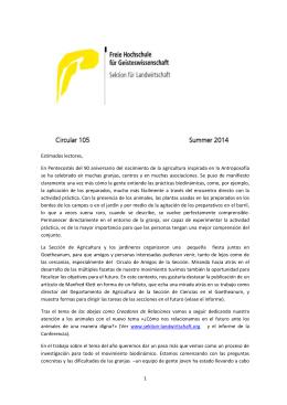 C-105 - Asociación de Agricultura Biodinámica de España